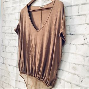 Free People Brown Bodysuit Top Small New With Tag